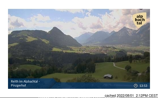 Alpbachtal webcam at lunchtime today