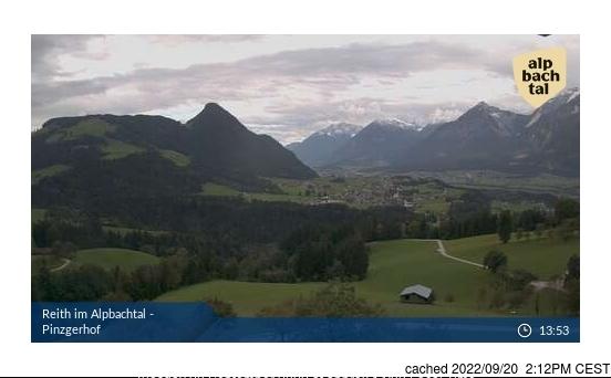 Webcam de Alpbachtal à 14h hier