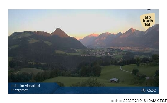Live Snow webcam for Alpbachtal