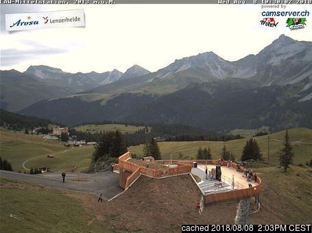 Arosa webcam at lunchtime today