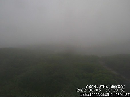Asahidake webcam at 2pm yesterday