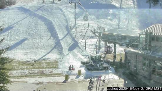 Aspen webbkamera vid lunchtid idag