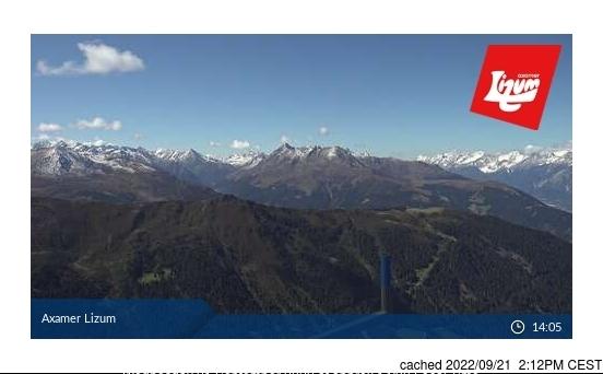 Axamer Lizum webcam all'ora di pranzo di oggi