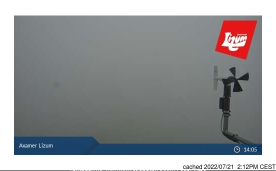 Axamer Lizum webcam at 2pm yesterday