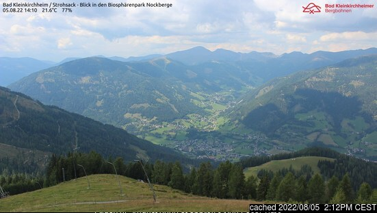 Bad Kleinkirchheim webcam all'ora di pranzo di oggi