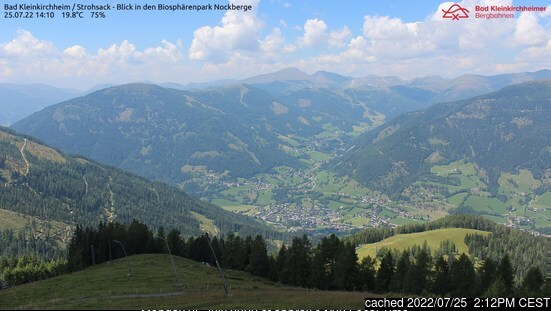 Bad Kleinkirchheim webcam at 2pm yesterday