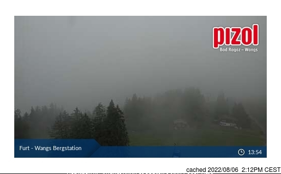 Pizol webcam at lunchtime today