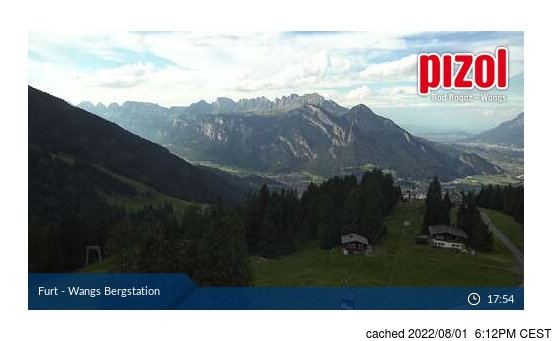 Live Snow webcam for Pizol