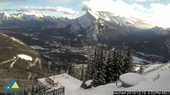 Banff Mt Norquay webcam at 2pm yesterday