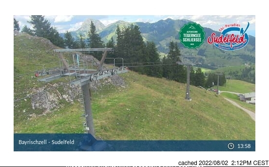 Bayrischzell/Sudelfeld webcam at lunchtime today