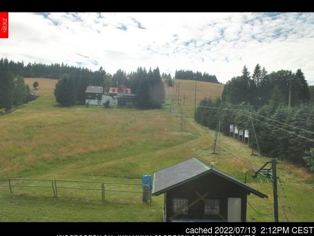Bedřichov webcam at 2pm yesterday