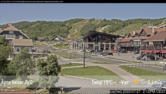 Beitostølen webcam at lunchtime today