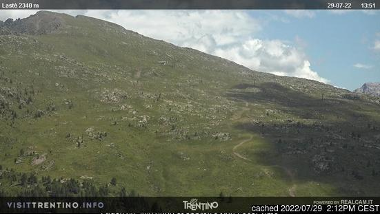 Ski Area Alpe Lusia webcam at 2pm yesterday