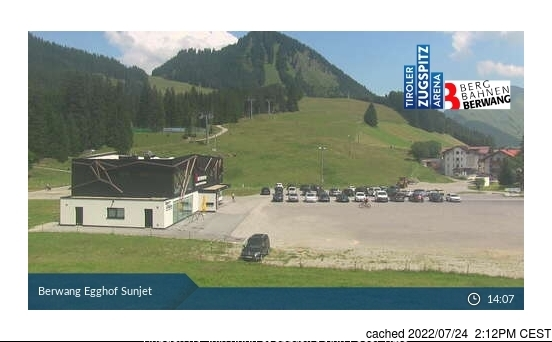 Berwang-Bichlbach-Rinnen webcam at 2pm yesterday
