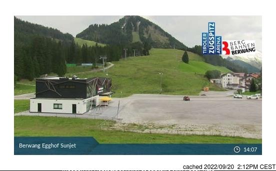 Berwang-Bichlbach-Rinnen webcam às 14h de ontem