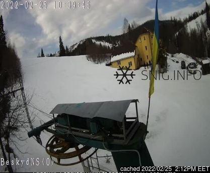 dün saat 14:00'te Beskyd'deki webcam