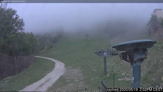 Bolognola-Ski webcam heute beim Mittagessen