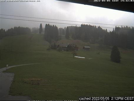 Bumbach / Schangnau webbkamera vid kl 14.00 igår