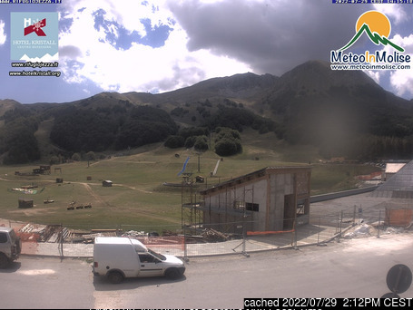Campitello Matese webcam at 2pm yesterday