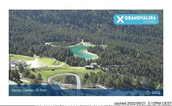 Grandvalira-Canillo webcam all'ora di pranzo di oggi