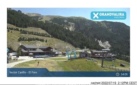 Webcam de Grandvalira-Canillo a las doce hoy