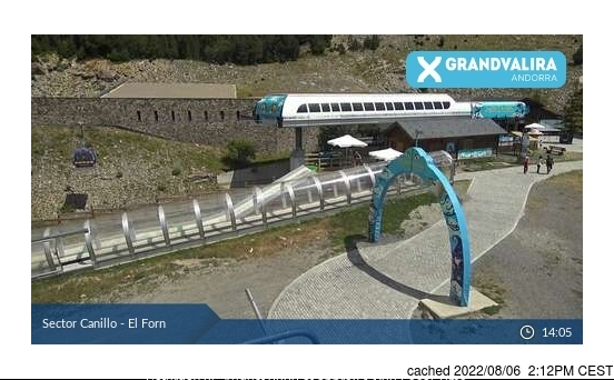 Grandvalira-Canillo webcam at 2pm yesterday