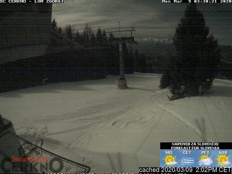 Webcam de Cerkno à midi aujourd'hui
