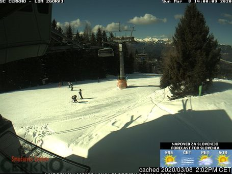 Cerkno webcam at 2pm yesterday
