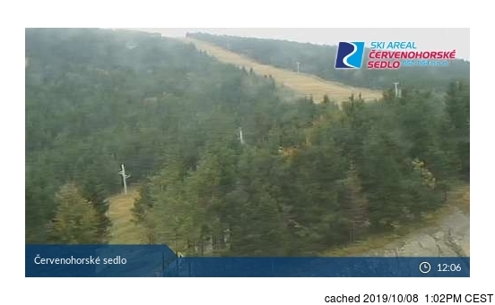 Červenohorské Sedlo webcam at 2pm yesterday