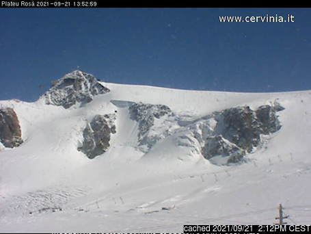 Breuil-Cervinia Valtournenche webcam at 2pm yesterday