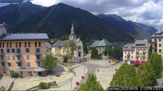 Chamonix webcam at 2pm yesterday