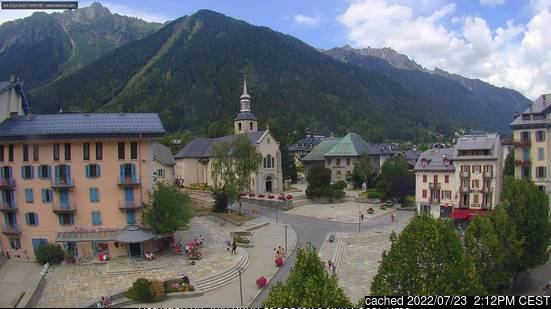 Chamonix webcam at lunchtime today