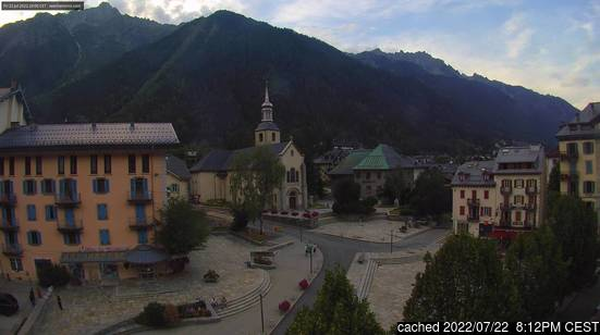 Live webcam per Chamonix se disponibile