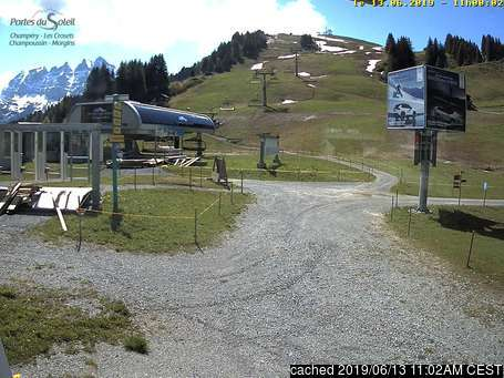 Champéry webcam at lunchtime today