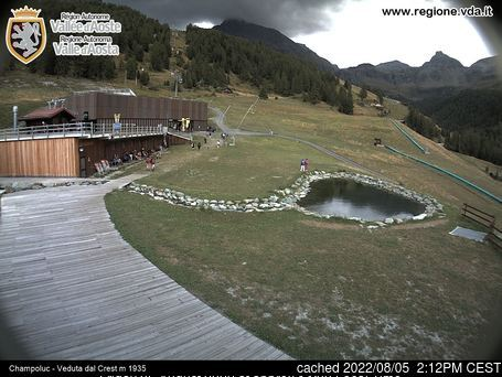 Champoluc webcam at 2pm yesterday
