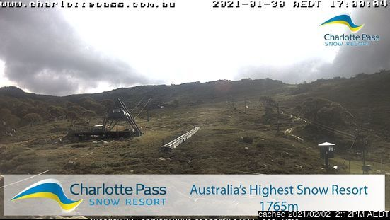 Charlotte Pass webcam at lunchtime today