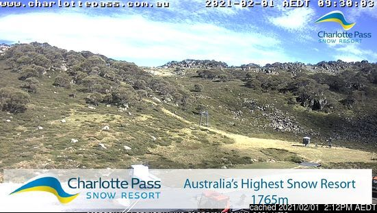 Webcam de Charlotte Pass à 14h hier