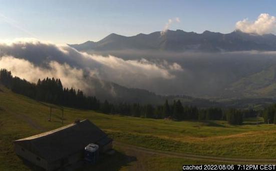 Live Snow webcam for Château d'Oex