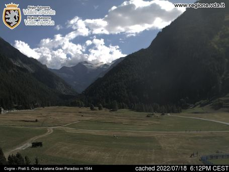 Live webcam per Cogne se disponibile