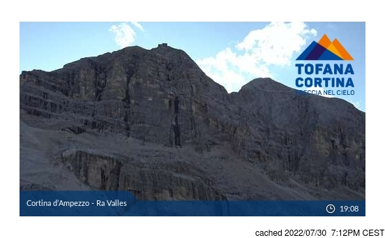 Live Snow webcam for Cortina