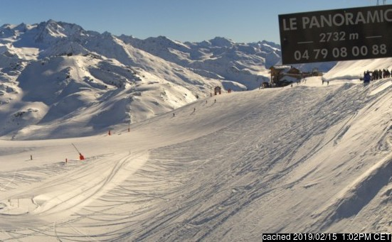 Courchevel webcam all'ora di pranzo di oggi