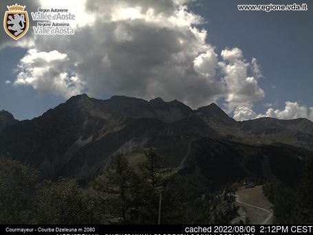 Webcam de Courmayeur à 14h hier