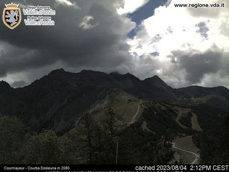 Courmayeur Webcam gestern um 14.00Uhr