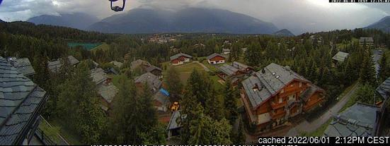 Crans Montana webcam at lunchtime today
