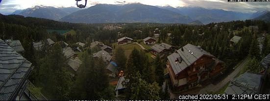 Webcam de Crans Montana a las 2 de la tarde ayer