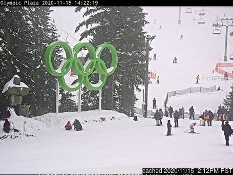 Cypress Mountain webcam at lunchtime today