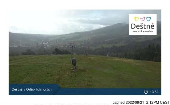 Deštné v Orlických horách webcam all'ora di pranzo di oggi