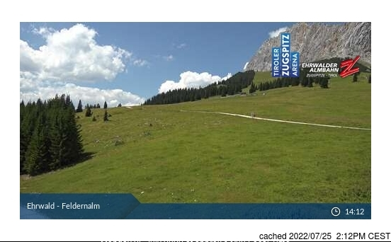 Ehrwald webcam at lunchtime today