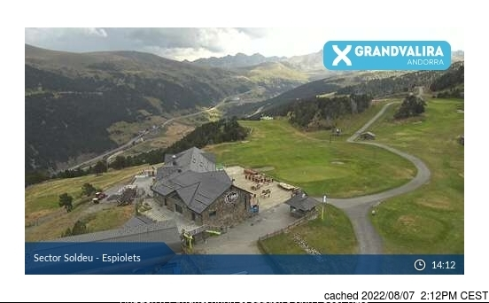 Grandvalira-Soldeu webcam at lunchtime today