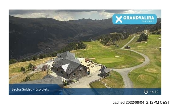 Grandvalira-Soldeu webcam at 2pm yesterday